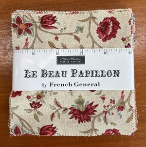 MODA French General 生地セット 「LE BEAU PAPIILLON」